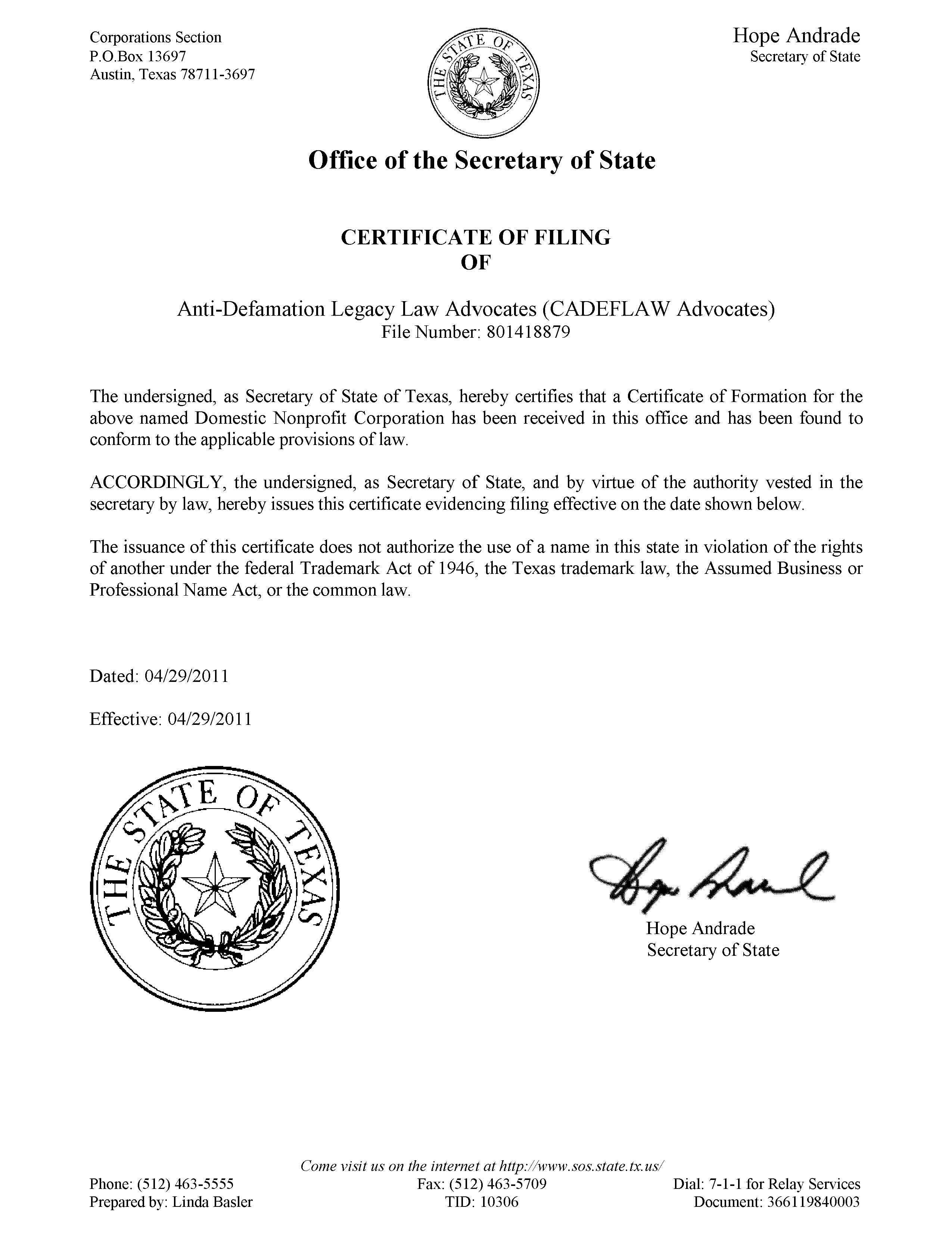 Legal Page Anti Defamation Legacy Law Advocates Adllawcadeflaw