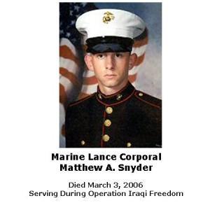 Lance Corporal Matthew Snyder