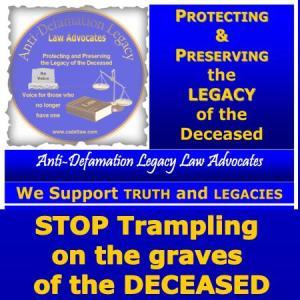 STOP TRAMPLING ON GRAVE OF DECEASED