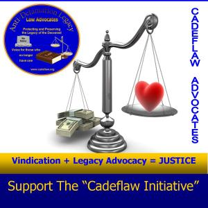 VINDICATION + LEGACY ADVOCACY = JUSTICE