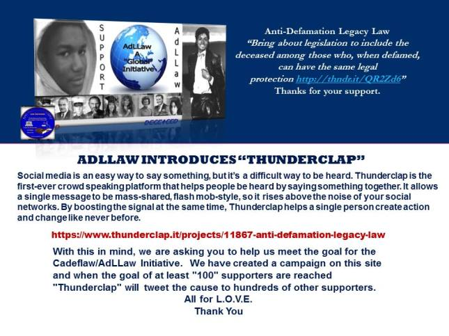 AdLLaw Thunderclap Campaign