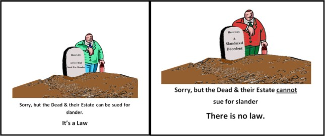 Dead Can NOT Sue For Slander
